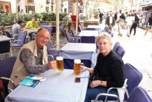 A cold glass of refreshing beer while sitting at an outside café along La Rambla is the perfect way to relax and reflect on the beauty of this marvelous city