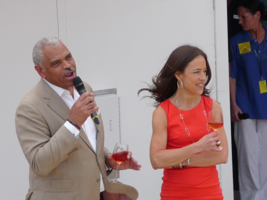 Arnold Donald, President & CEO Carnival Corporation; Tara Varga Russell, President fathom travel
